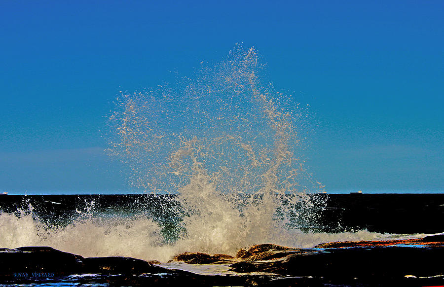 Wave Photograph - Dancing Waves by Susan Vineyard