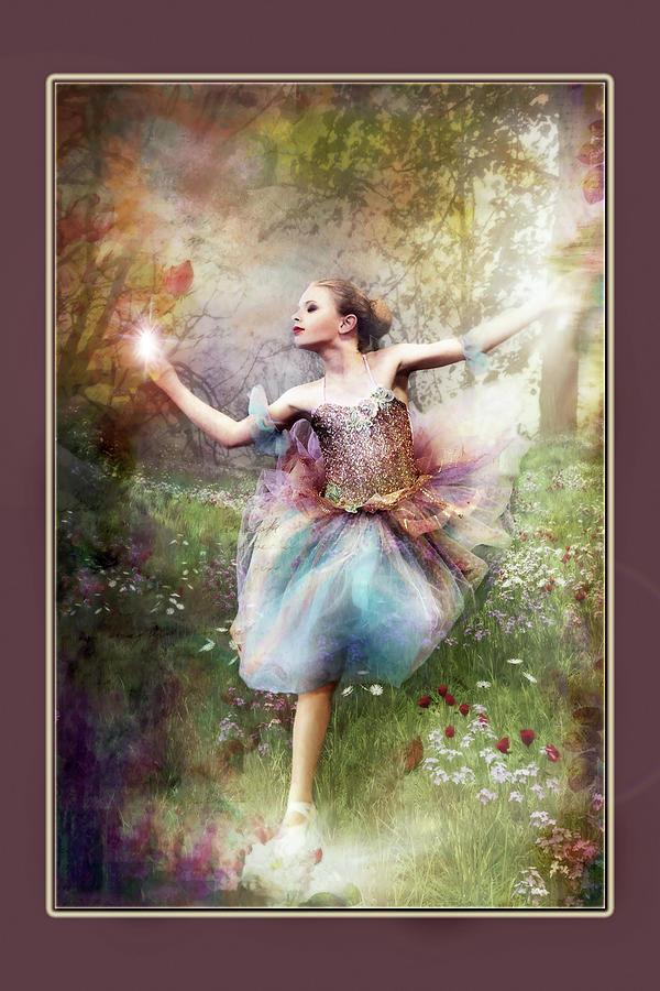 Ballet Digital Art - Dancing With The Light by Pamela Hagedoorn