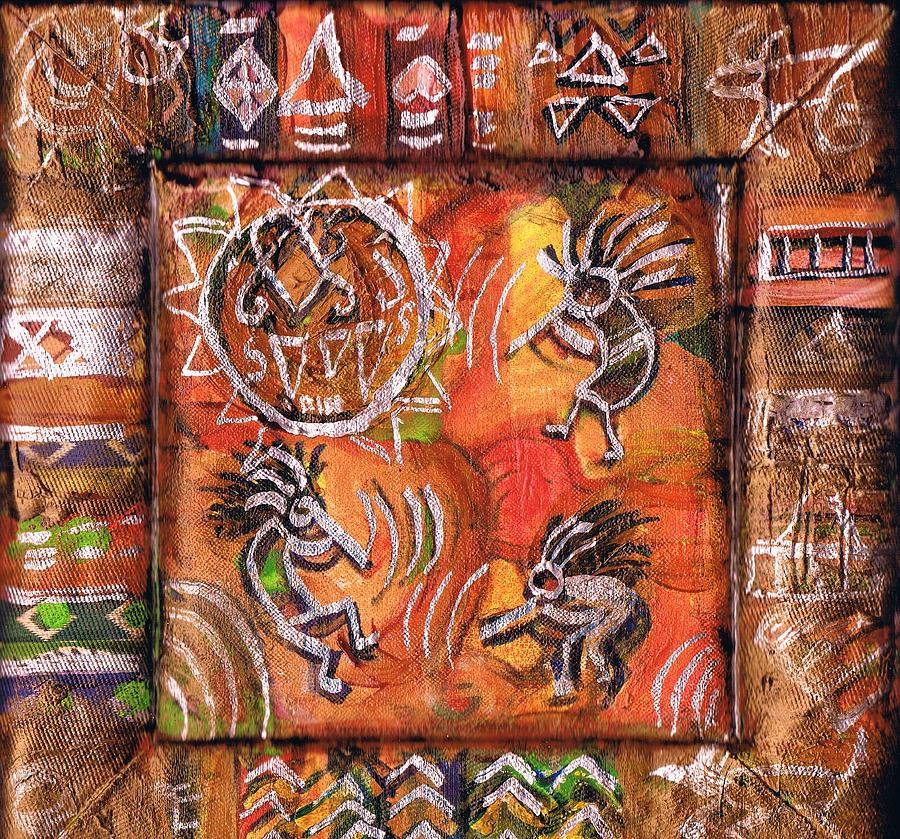 Kokopellis Mixed Media - Dancing With The Stars  by Anne-Elizabeth Whiteway