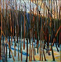 Landscape Painting - Dancing With Trees by Glynnis Sorrentino