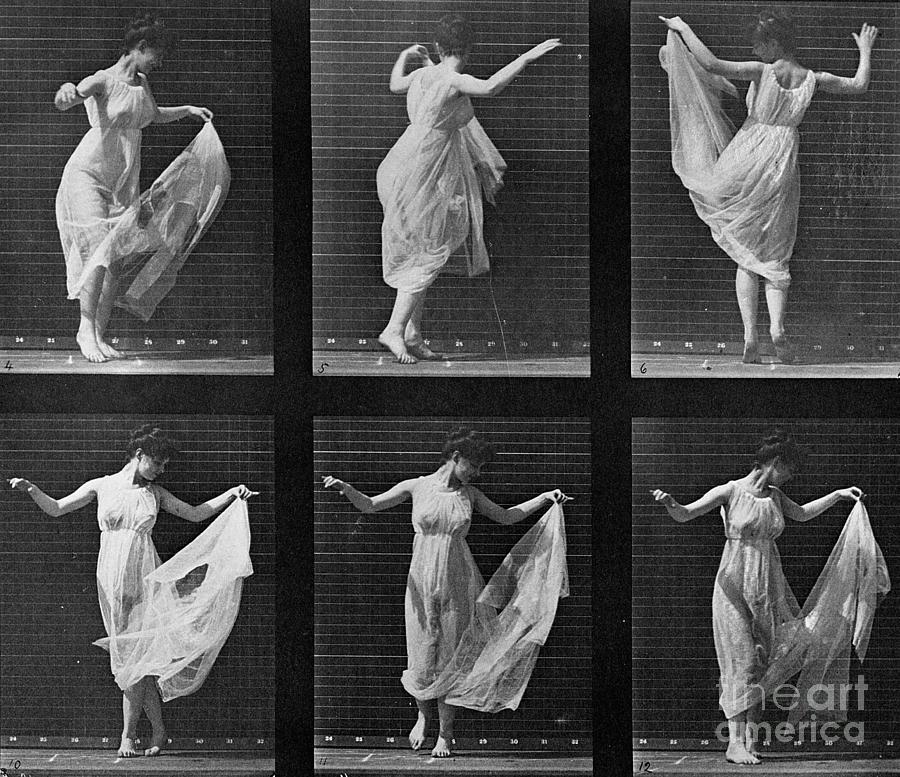Muybridge Photograph - Dancing Woman by Eadweard Muybridge