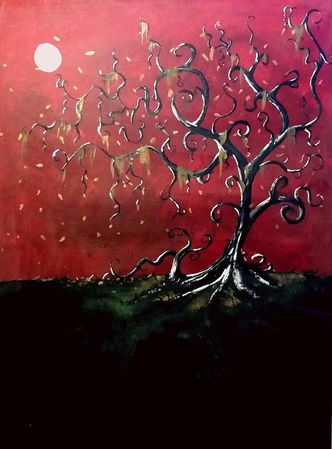 Gothic Painting - Dancing Wood by Carole Hutchison