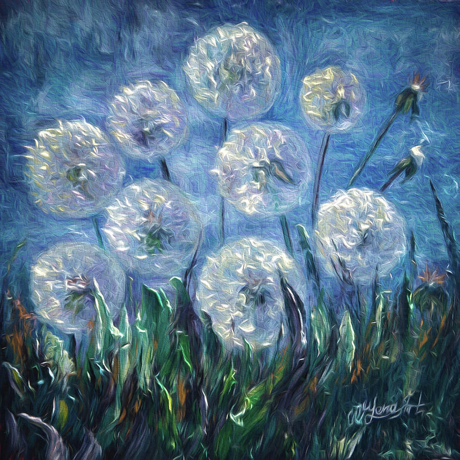 Dandelion Abstract Painting By Lena Owens Olena Art