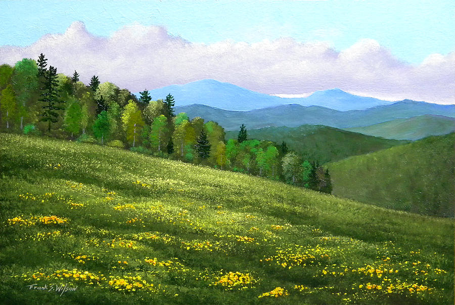 Spring Painting - Dandelion Hill by Frank Wilson