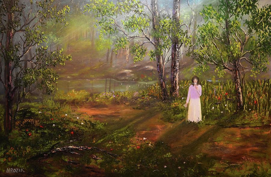 Dandelion In The Breez Painting