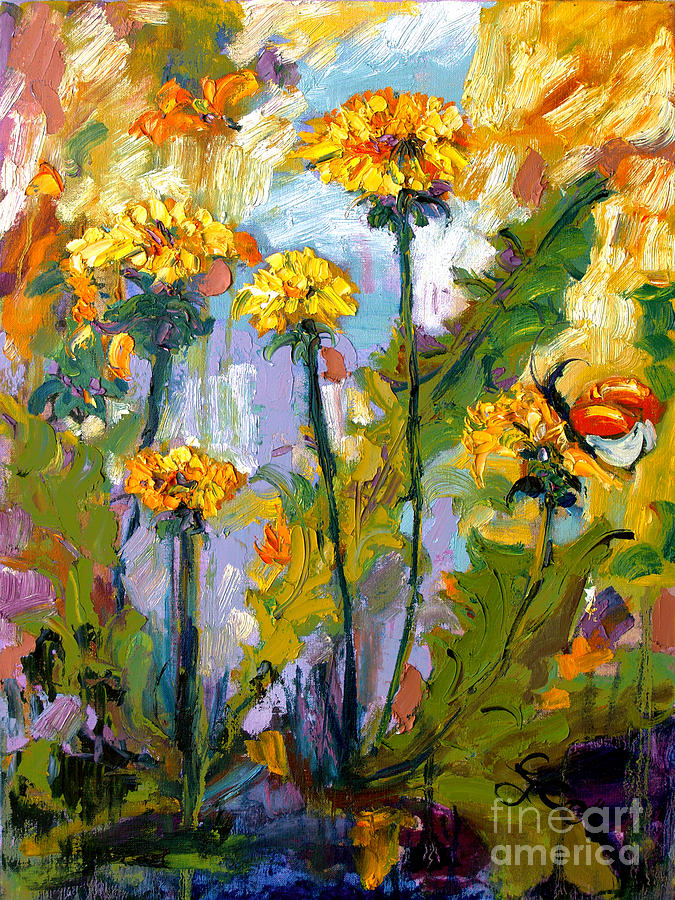 Dandelions by Ginette Callaway