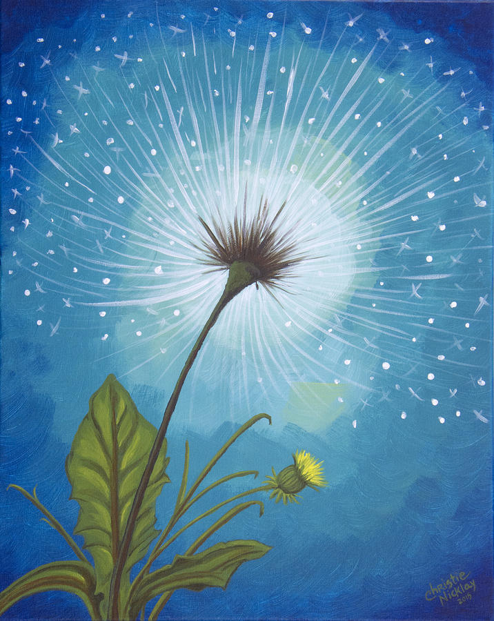 Dandelion Painting - Dandy Dandelion by Christie Nicklay