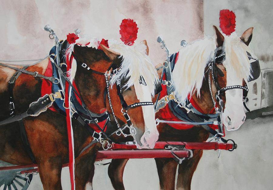 Horse Painting - Dandy Duo by Jean Blackmer