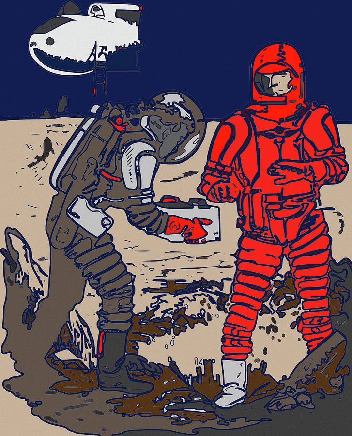 Danger In Deep Space Digital Art by Joy McKenzie