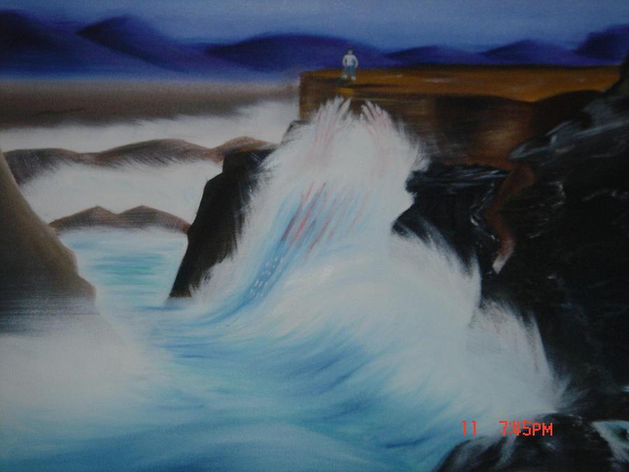 Wave Painting - Dangerous Waters by Gilbert Nieves