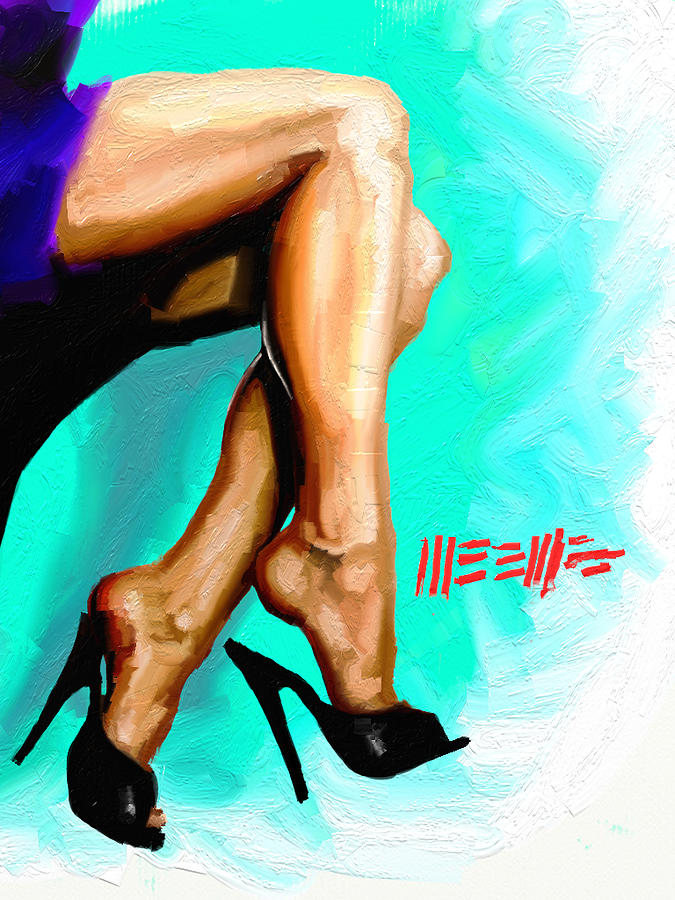 Legs Painting - Dangle by Dillan Weems