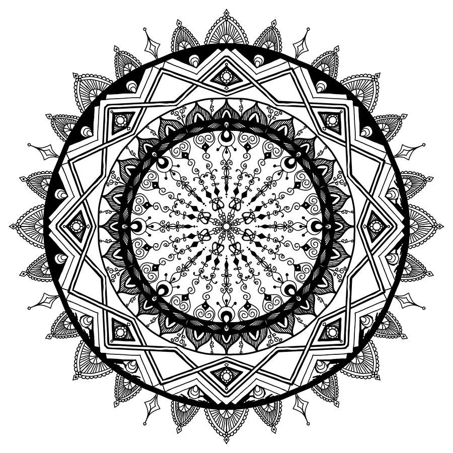 Mandala Digital Art - Dangled By A String by Lisa Schwaberow