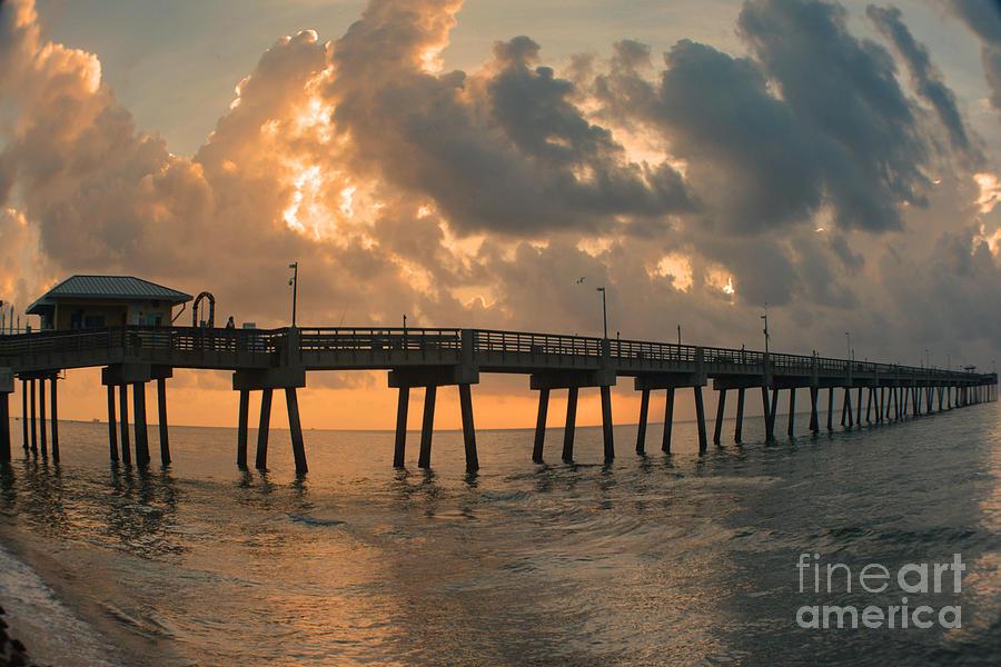 Dania Beach Fishing Pier Photograph By Gary Keesler