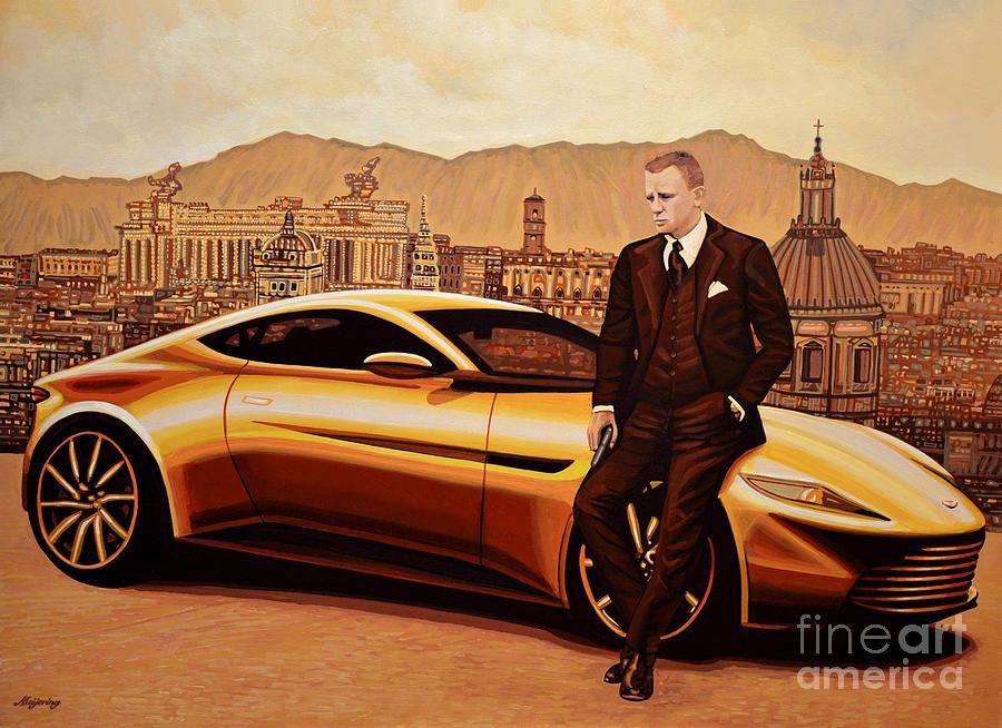Daniel Craig Painting - Daniel Craig As James Bond by Paul Meijering