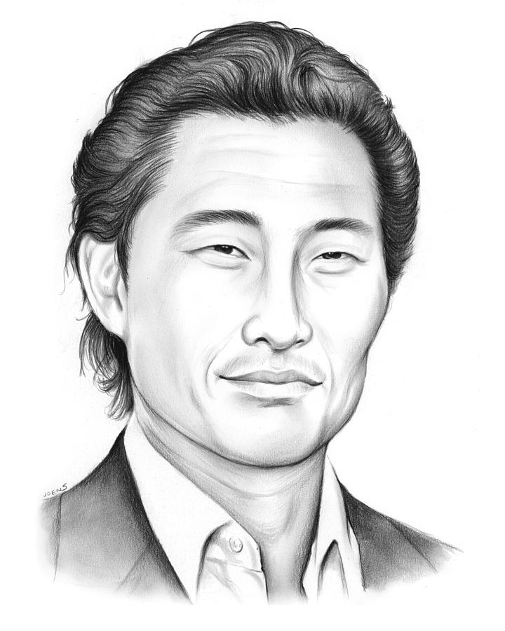daniel dae kim drawing by greg joens