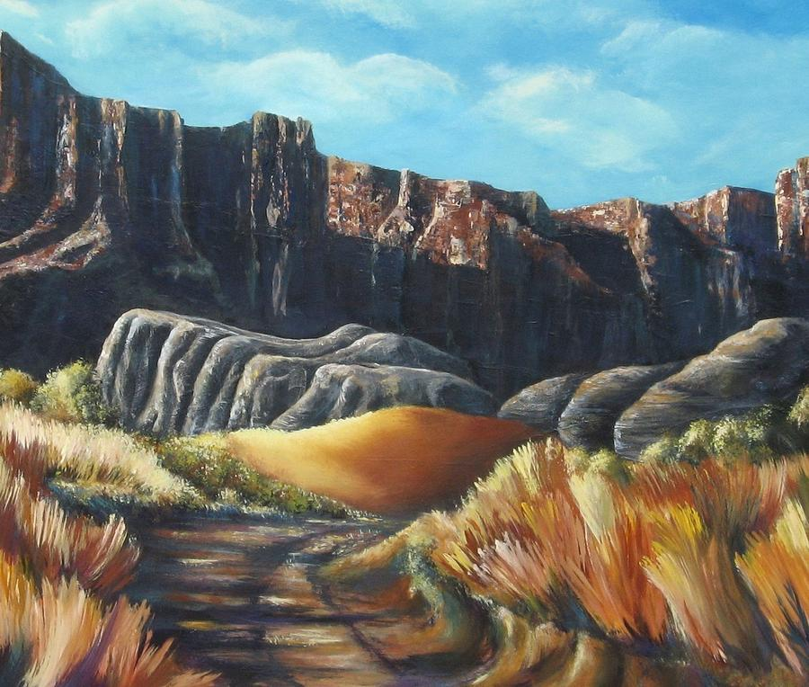 Western Landscape Painting - Daniel Lawrence by Melody Horton Karandjeff