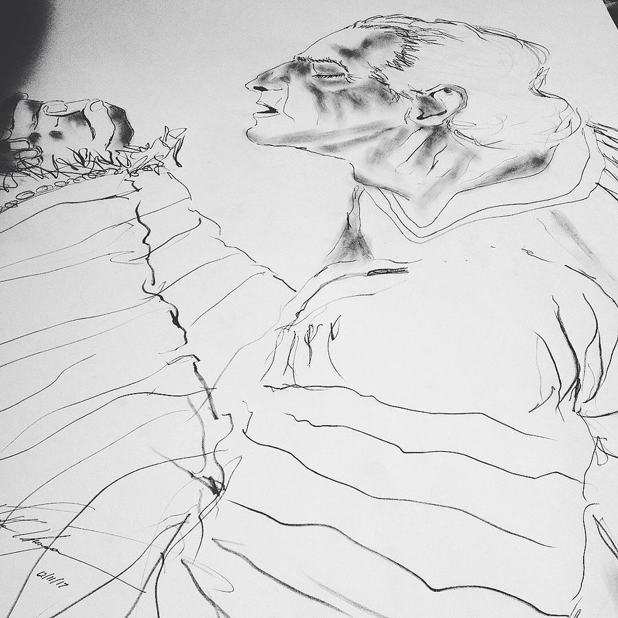 Daniel Drawing - Daniel Praying by Love Art Wonders By God