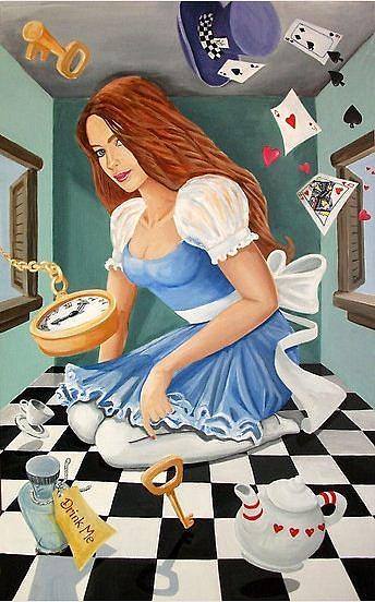 Acrylic Painting Painting - Danielle In Wonderland by Nancy Salamouny