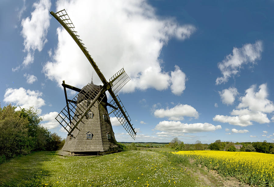 Windmill Photograph - Danish Windmill by Robert Lacy