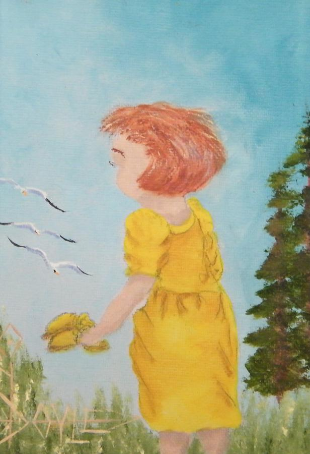Girls Painting - Dannie by Larry Doyle