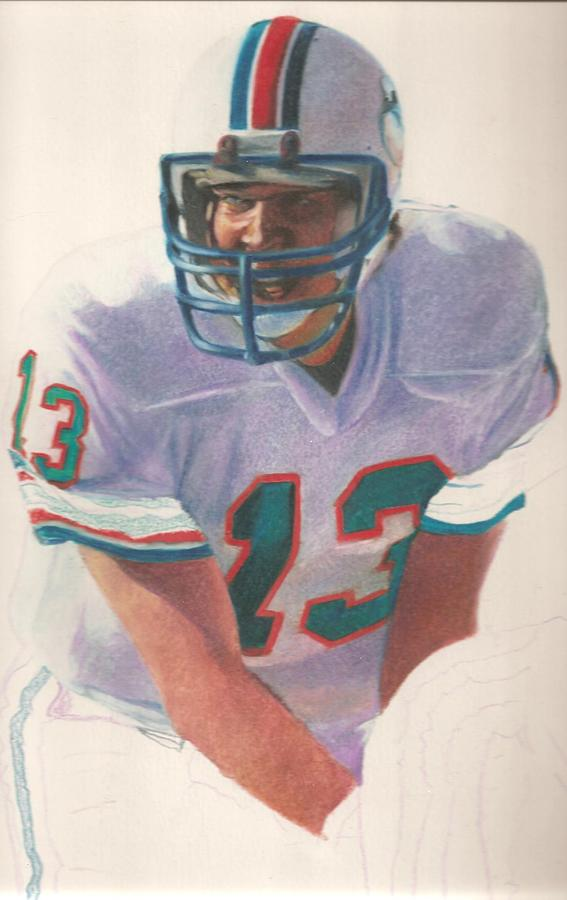 Dan Marino Drawing - Danny by Darren  Chilton