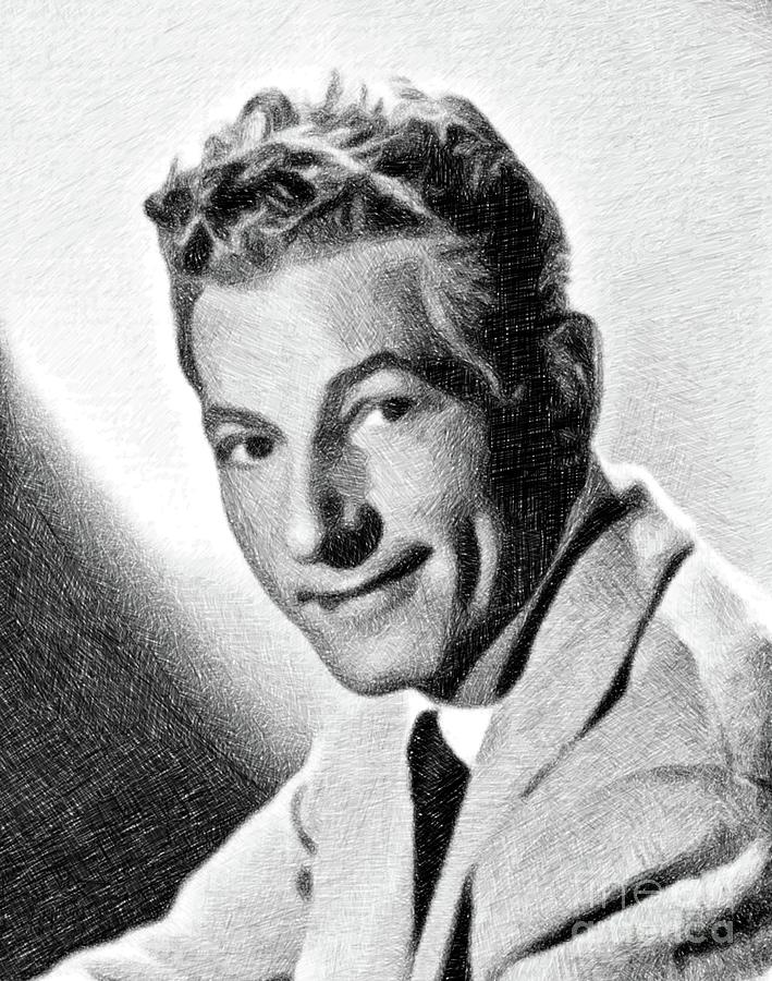 Danny Kaye, Vintage Actor By Js Drawing