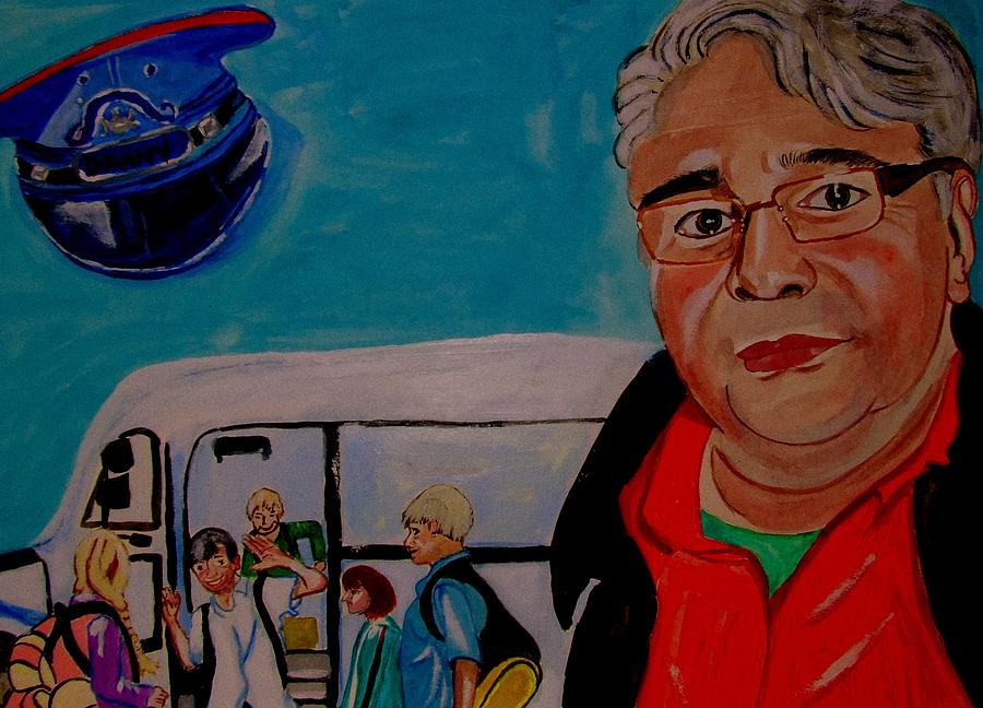 Danny The School Bus Driver Painting by Rusty Gladdish
