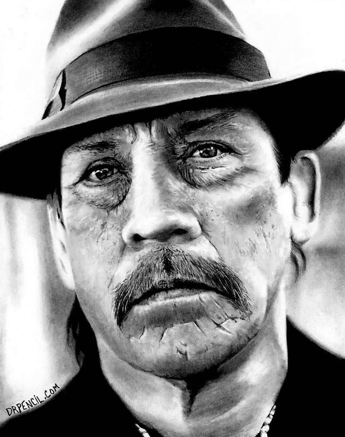 Danny Trejo Drawing - Danny Trejo  by Rick Fortson