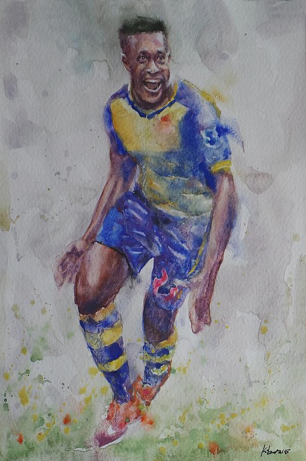 Danny Wellbeck - Portrait 1 Painting by Baris Kibar