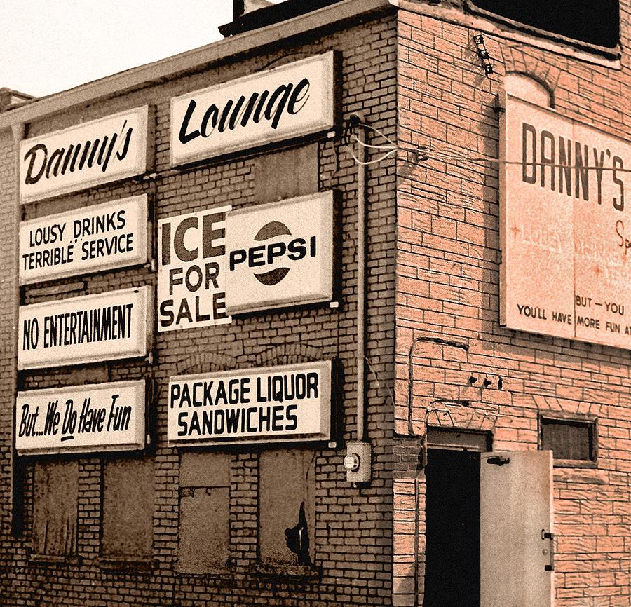 Rundown Building Photograph - Dannys Lounge by Richard Nickson