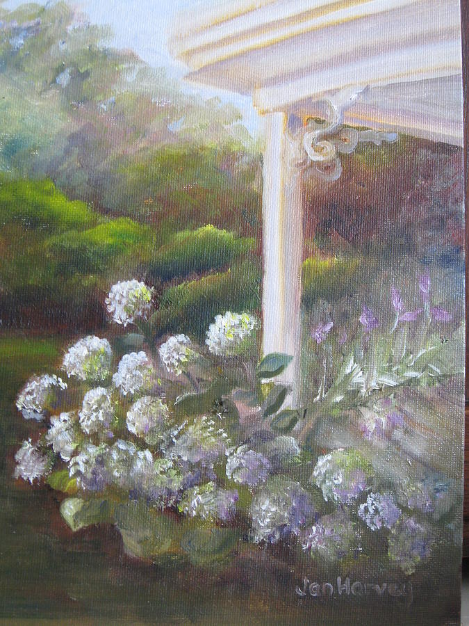 Porch Painting - Dans Front Porch by Jan Harvey