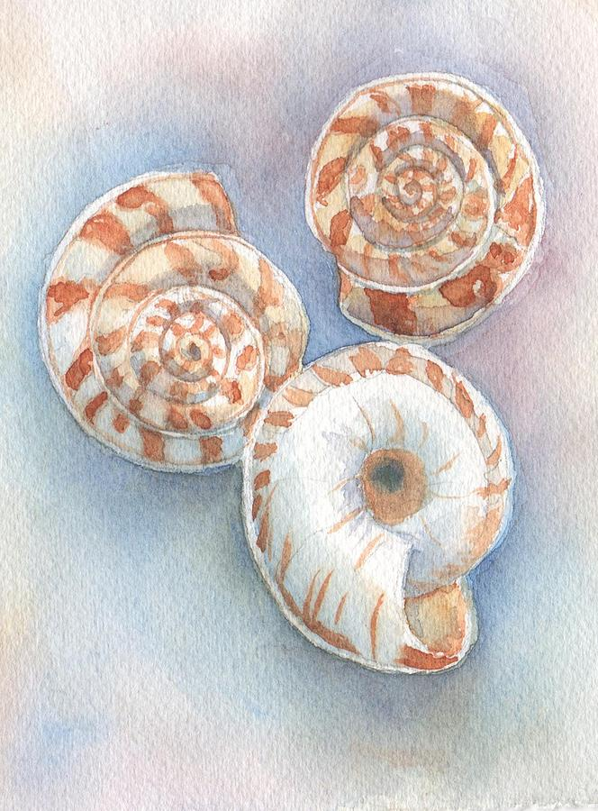 Snails Painting - Dans Snails by Libby  Cagle