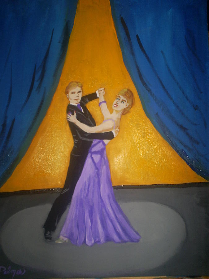 Danser Painting - Dansers by Margaret Palmer