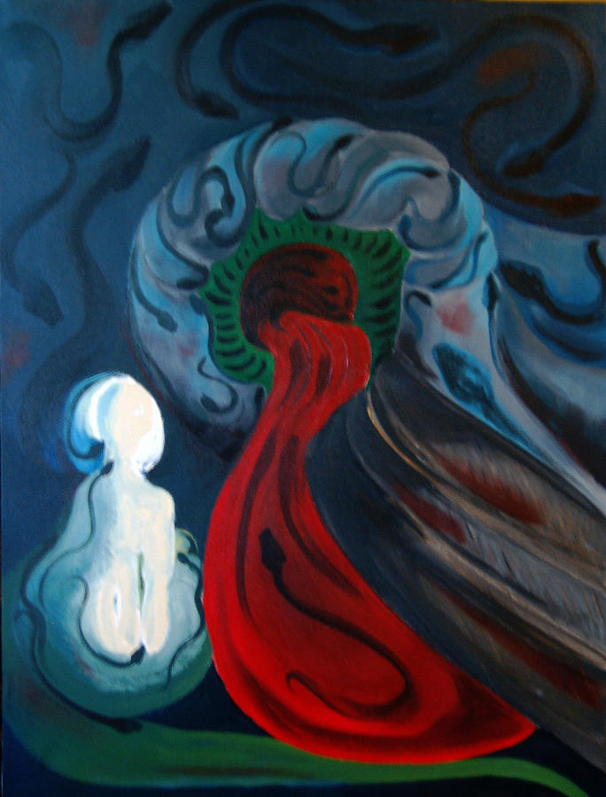 Abstract Painting - Dante by DeLa Hayes Coward