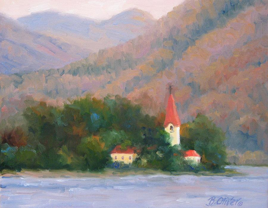 Austria Painting - Danube Autumn by Bunny Oliver