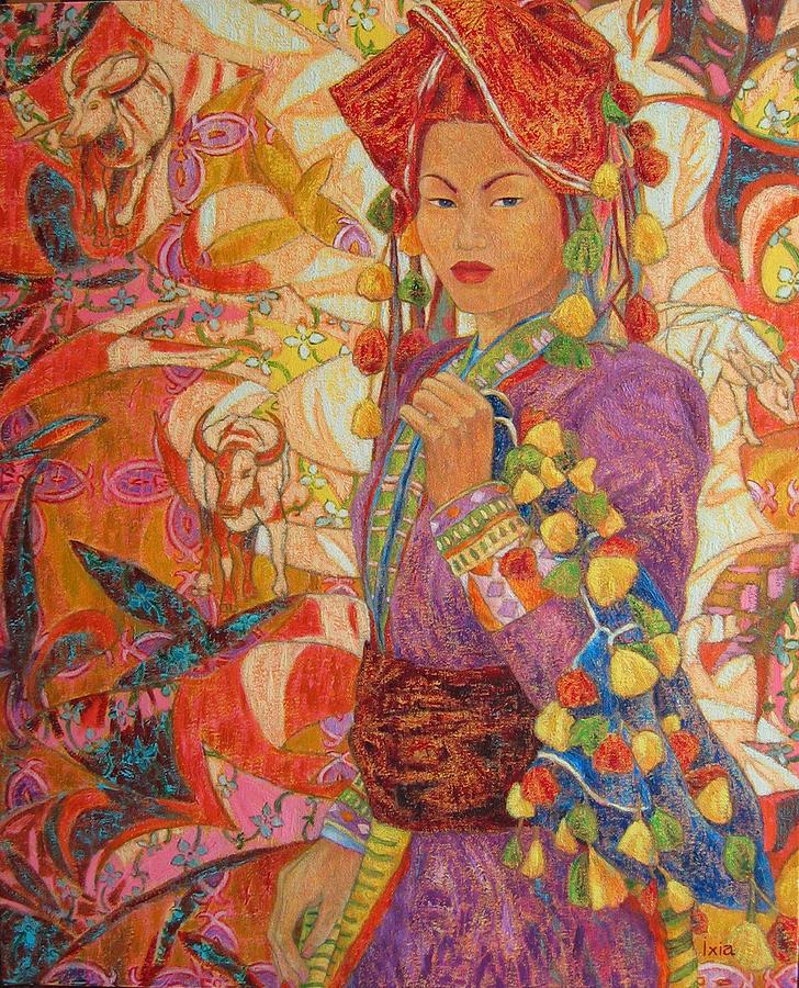 Asia Painting - Dao De Sapa Aux Pompons by Ixia