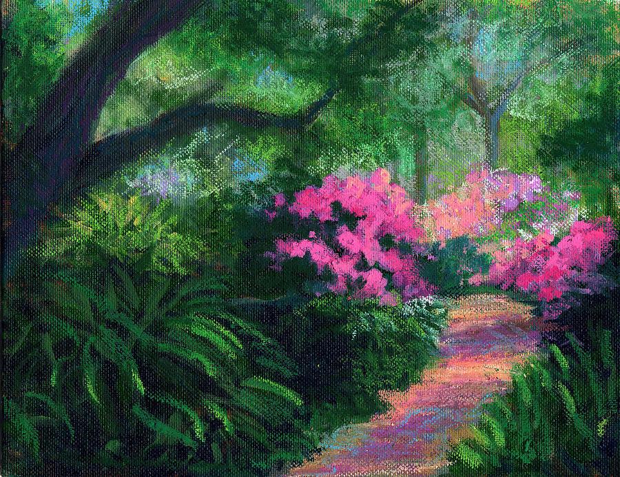 Landscape Painting - Dappled Light by Diane Martens