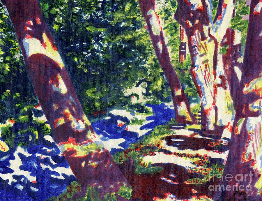 Tree Lined Path Abstract Art