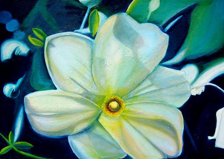 Flower Painting - Dappled Lights by Leonard Aitken