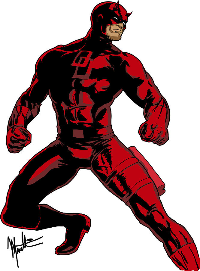 Daredevil Digital Art - Daredevil by Robert Massetti