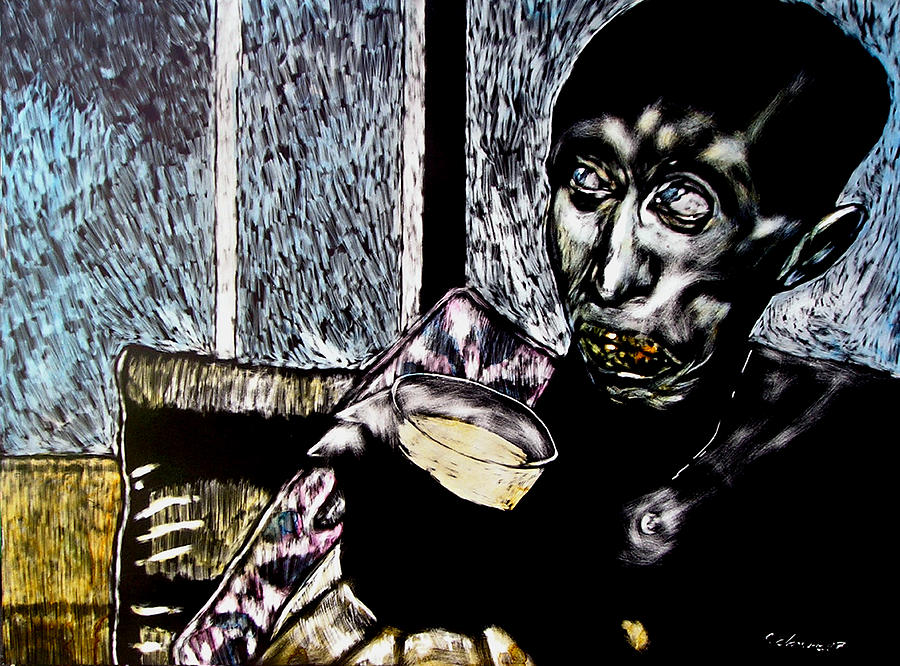 Social Commentary Mixed Media - Darfu In Our Living Room by Chester Elmore