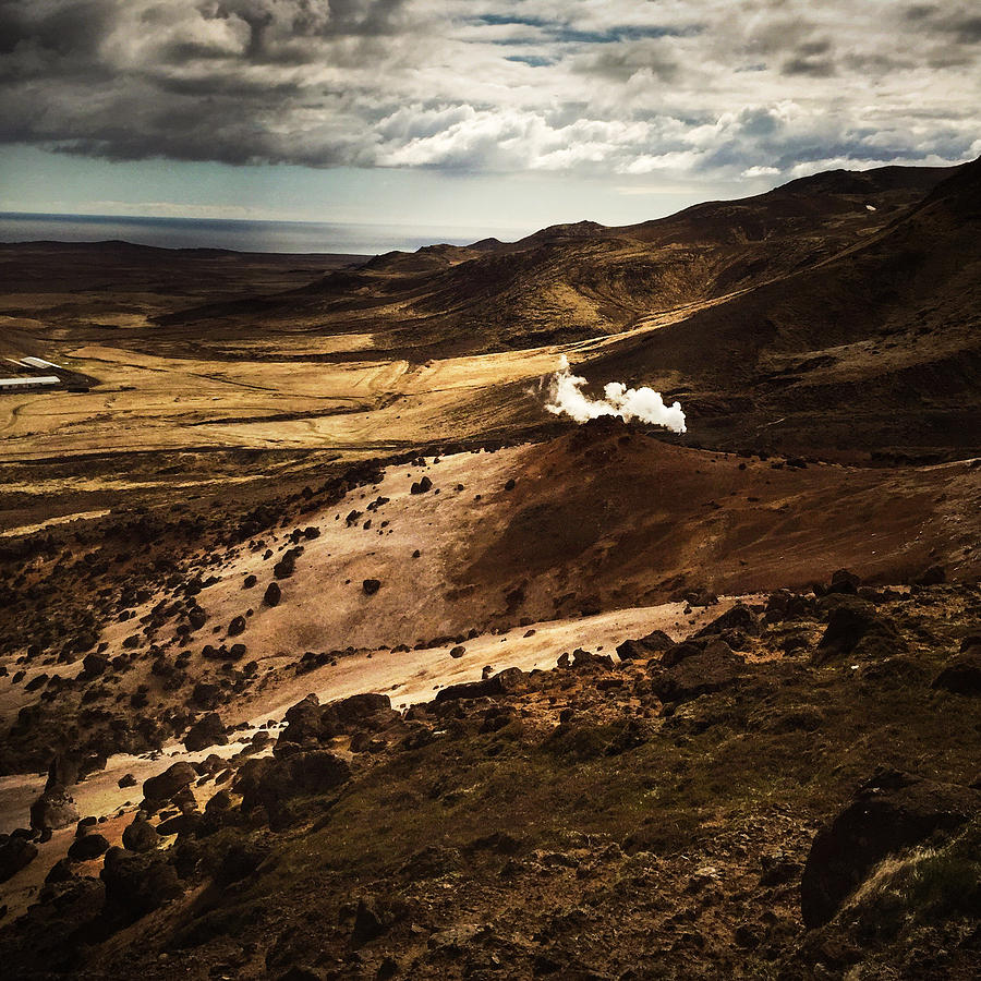 Iceland Photograph - Dark and steaming Iceland by Matthias Hauser