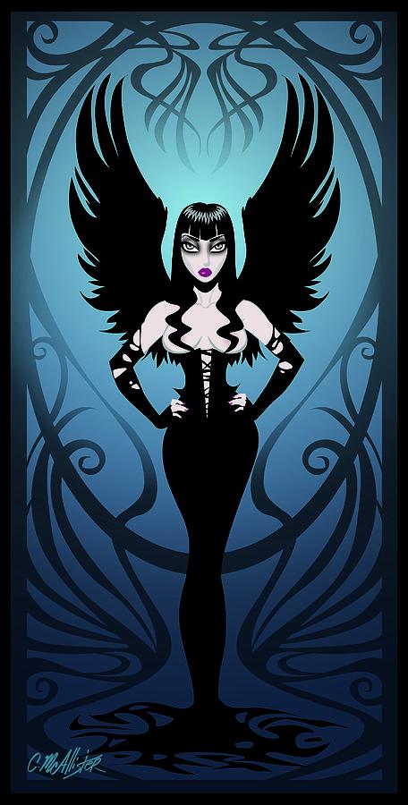Pinup Digital Art - Dark Angel by Cristina McAllister