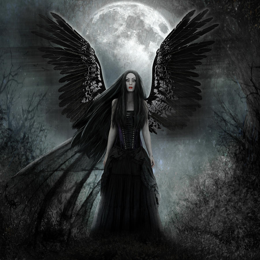 Image of: Surreal Dark Angel Fine Art America Dark Angel Digital Art By Karin Claesson