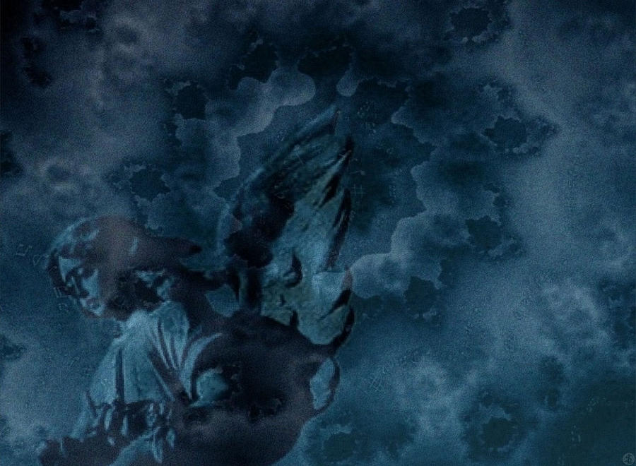 Fractal Photograph - Dark Angel... by Sandra Lock