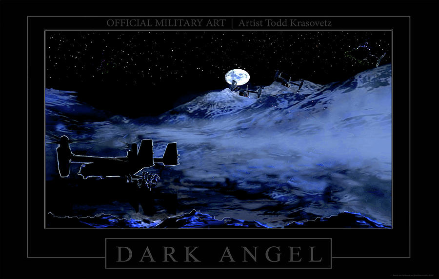 Military Artist Photograph - Dark Angel by Todd Krasovetz