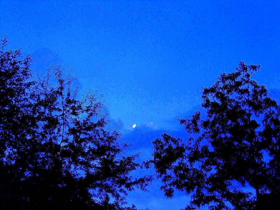 Dark Photograph - Dark Blue Sky by James Johnson
