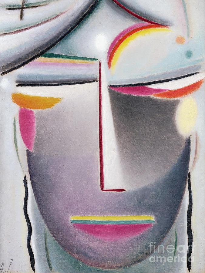 Lids Painting - Dark Buddha by Alexej von Jawlensky