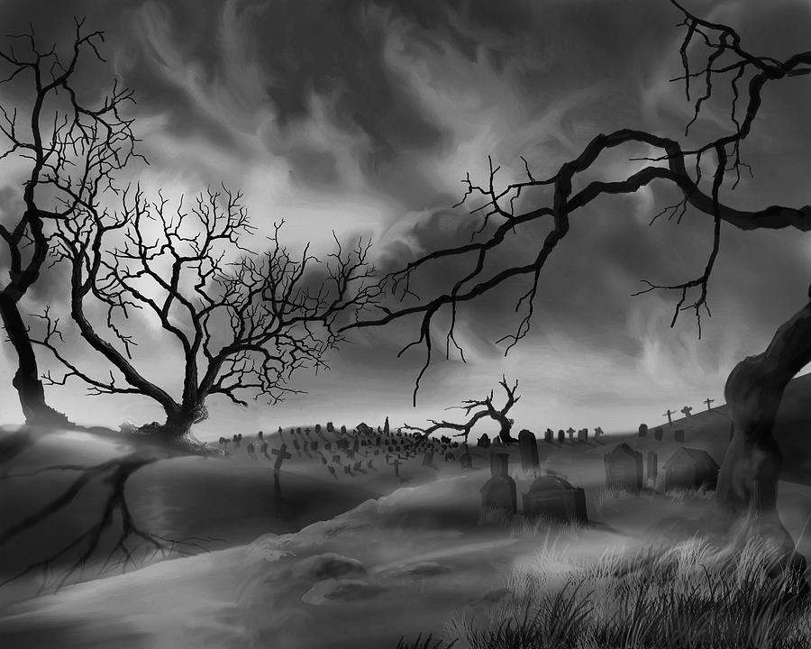 Dark Cemetary by James Christopher Hill