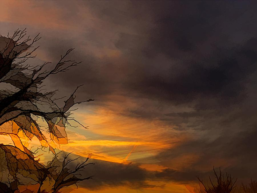 Dark Clouds at Sunset by Renette Coachman